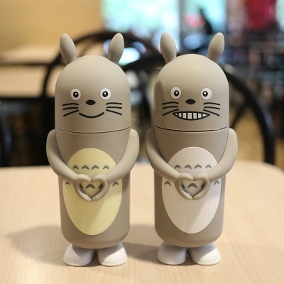 My Neighbor Smiling Totoro Holding Heart Stainless Steel Thermos Bottle (4 Styles)