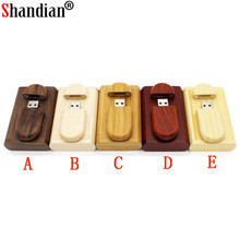 SHANDIAN wooden USB  flash drive pen drive 8gb 16gb 4gb memory stick
