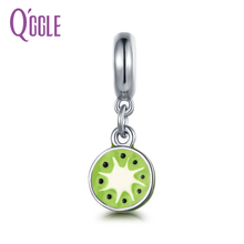 QGGLE High Quality Alloy Kiwi Fruit Pendant & Charm Fit Bangles & Bracelets For Women DIY Jewelry Gift For Girlfriend