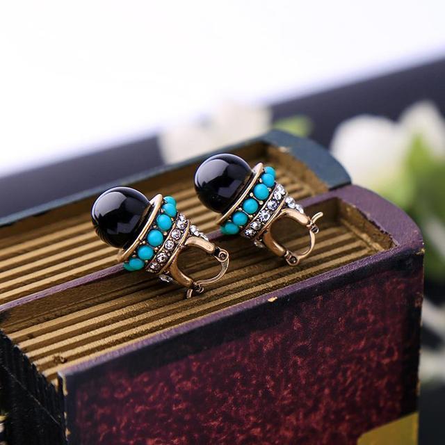 JOOLIM Jewelry Wholesale/ Vintage Boho Style Teardrop Earring Folk Earring Free Shipping Indian Earring Tribal Earring 3