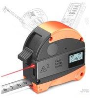 Laser Ranging Tape Measure 2 in 1 Digital Laser Measuring Instrument LCD Laser Ruler Electronic Equipment Ruler Measuring Tool