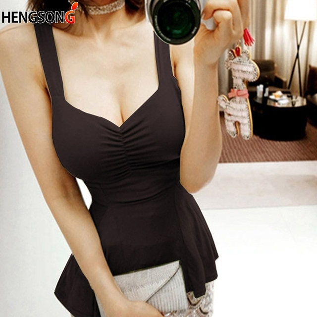 7df6ab2b Women Deep V Neck Tank T-shirt Low Cut Sexy Women T Shirt Summer Sleeveless