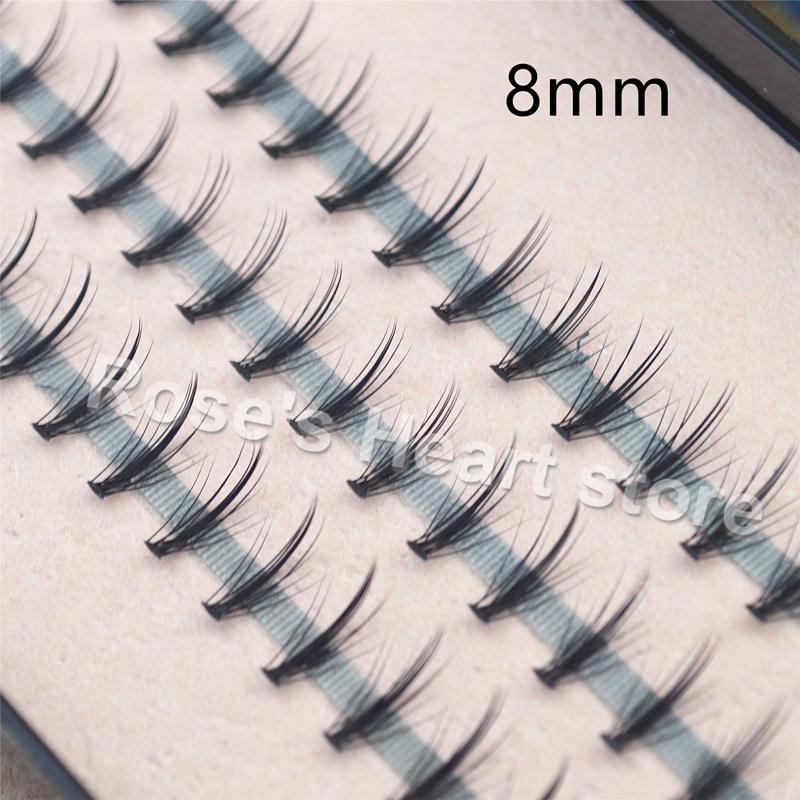 2018 4 brickor Flare Black Natural False Eyelash Individuella ögonfransar Ögonlash Extensions Kit 8mm 10mm 12mm 14mm Makeup Tools 1604
