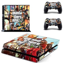 Grand Theft Auto V GTA5 PS4 Skin Sticker Decal Vinyl for Sony Playstation 4 Console and 2 Controllers PS4 Skin Sticker
