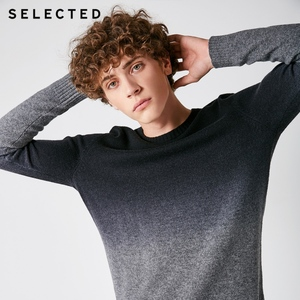 Image 1 - SELECTED Mens Sweater Pure Wool Autumn Knit Gradual Change Business Casual Pullovers S