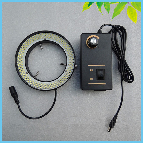 81mm Large Inner Diameter LED Ring Lamp 156 PCS White Color Microscope Ring Light with Adapter for Microscope Illumination