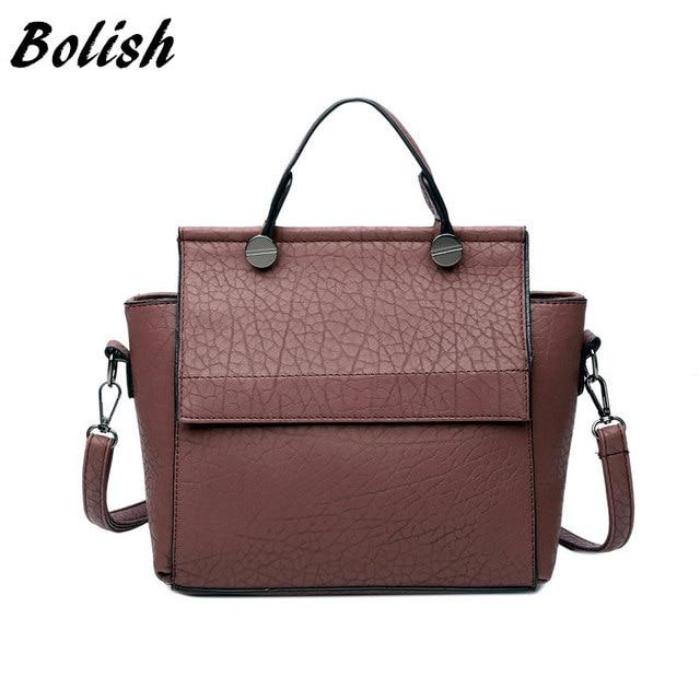 Bolish Новинка старинные Трапеция сумка женщин кожаные сумки женские вечерние сумки на плечо модный топ-ручки сумки