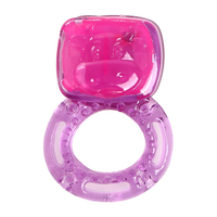 Elastic Delay Penis Rings Clear Color Clit Vibrating Cock Ring Adult Sex Products penis ring cock ring