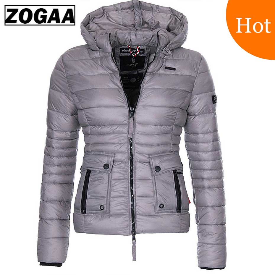 ZOGAA S-3XL Women's Cotton   Parkas   Coats Puffer Jacket   Parka   Women Fashion Slim Fit Solid Coat Outwear Women   Parkas
