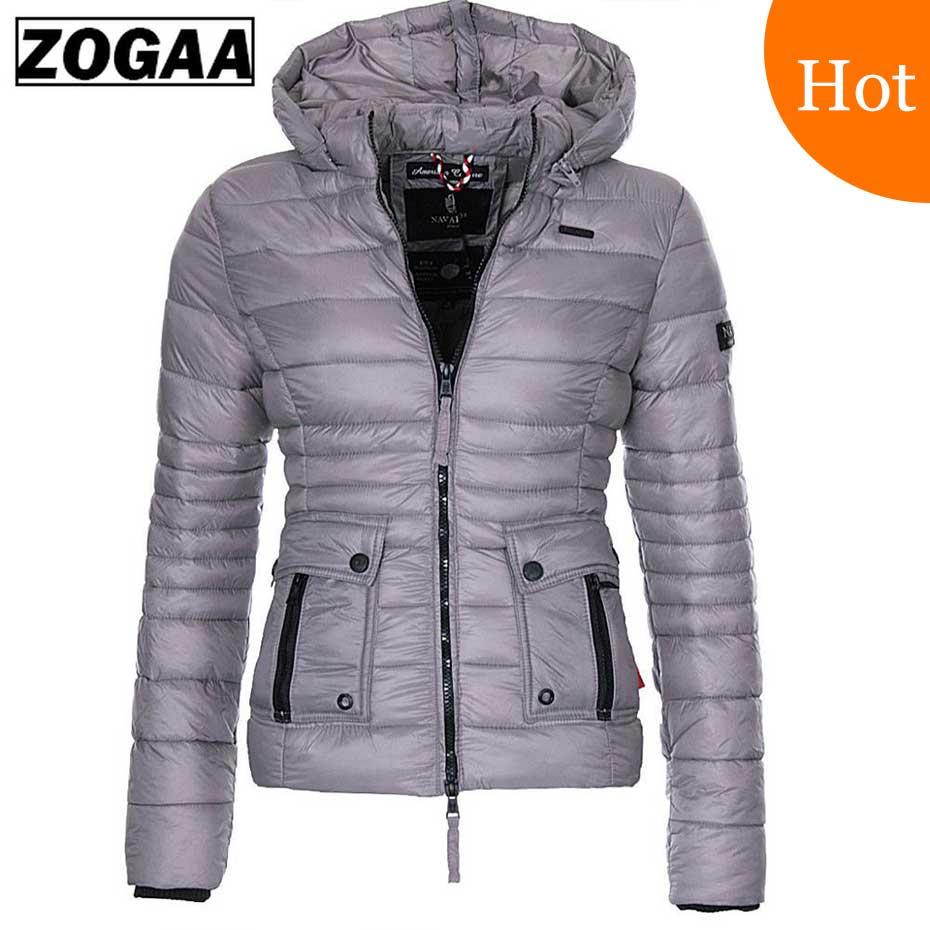 Zogaa S-3xl Frauen Baumwolle Parkas Mäntel Puffer Jacke Parka Frauen Mode Slim Fit Feste Mantel Outwear Frauen Parkas