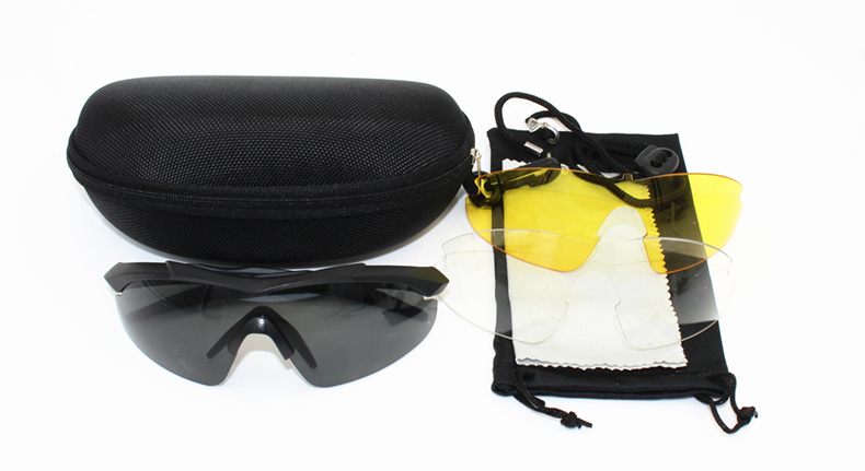 3 lens 2mm thickness Tr90 Military Goggles Sunglasses Bullet proof Army Tactical Glasses shooting Eyewear Cycling glasses in Cycling Eyewear from Sports Entertainment