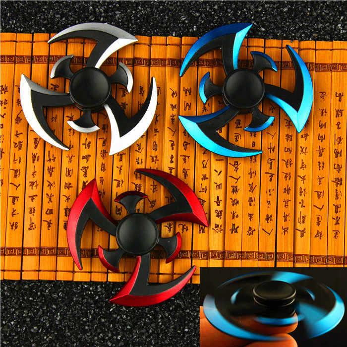 Nuevo Fidget giroscopio Spinner Naruto dedo Spinner Tri Spinner dardos Metal Spinner mano modelo EDC rellenador para chico/adultos juguetes, juguetes