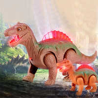 Light Up Luminous Dinosaur Electronic Walking Robot Dinosaur Model Kids Toy Gift