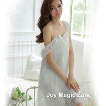 Yomrzl L713 новое прибытие летом ночная рубашка женская Плюс размер белый пижамы королевский принцесса марли платья сна