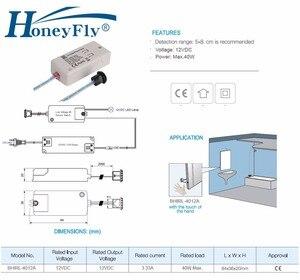 Image 5 - HoneyFly Interruptor de Sensor LED DC12V IR, luz infrarroja de 40W para lámparas LED, tiras LED, Sensor de movimiento, onda de mano, 5 8CM, CE, 2 uds.