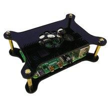 Acryl Fall Für Raspberry Pi 4 Modell B/3B +/3B/2B Programmierbare Spielzeug Zubehör Für Kinder erwachsene Experiment Wissenschaft-Schwarz