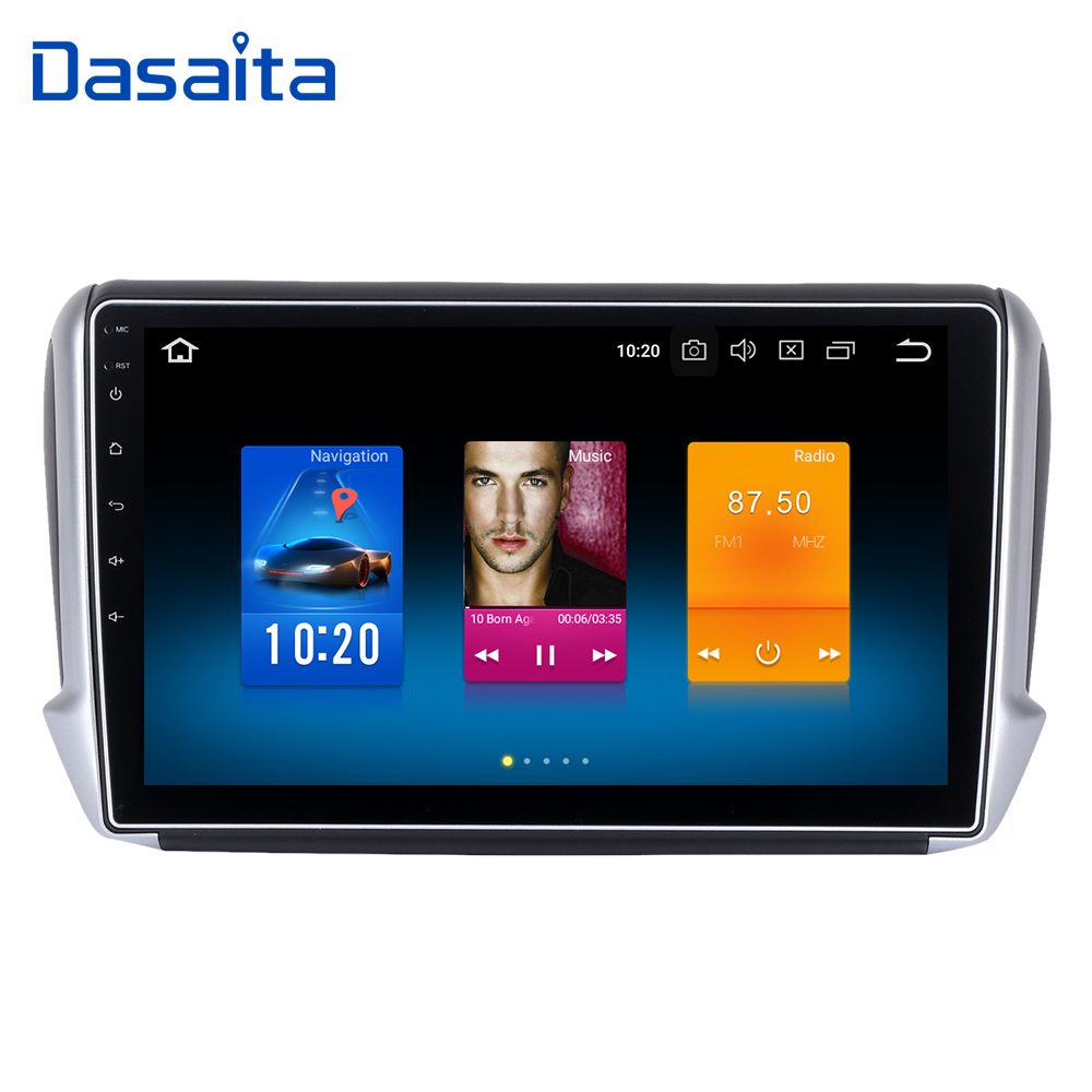 Dasaita 10 2 Android 9 0 Car GPS Player for Peugeot 208 2008 2012 2016 with