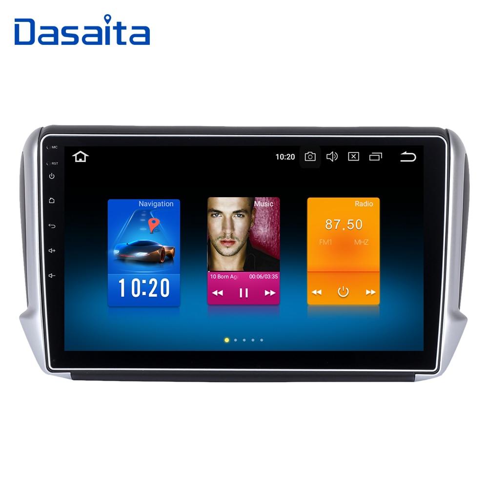 Dasaita 10.2 Android 8.0 Voiture Lecteur GPS pour Peugeot 208 et 2008 2012-2016 avec Octa Core 4 gb Ram Auto Radio Multimédia GPS NAVI 4g