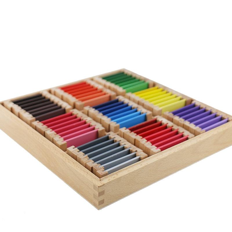 Montessori jouets éducatifs en bois Montessori matériaux sensoriels 27 couleurs reconnaissance jouets en bois pour enfants UB0666H - 4