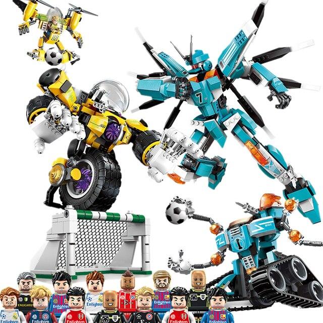 Future Warrior Football Player MOSCOW team Gundam Robot Building Blocks Sets Bricks Model Kids Toys Compatible Legoings