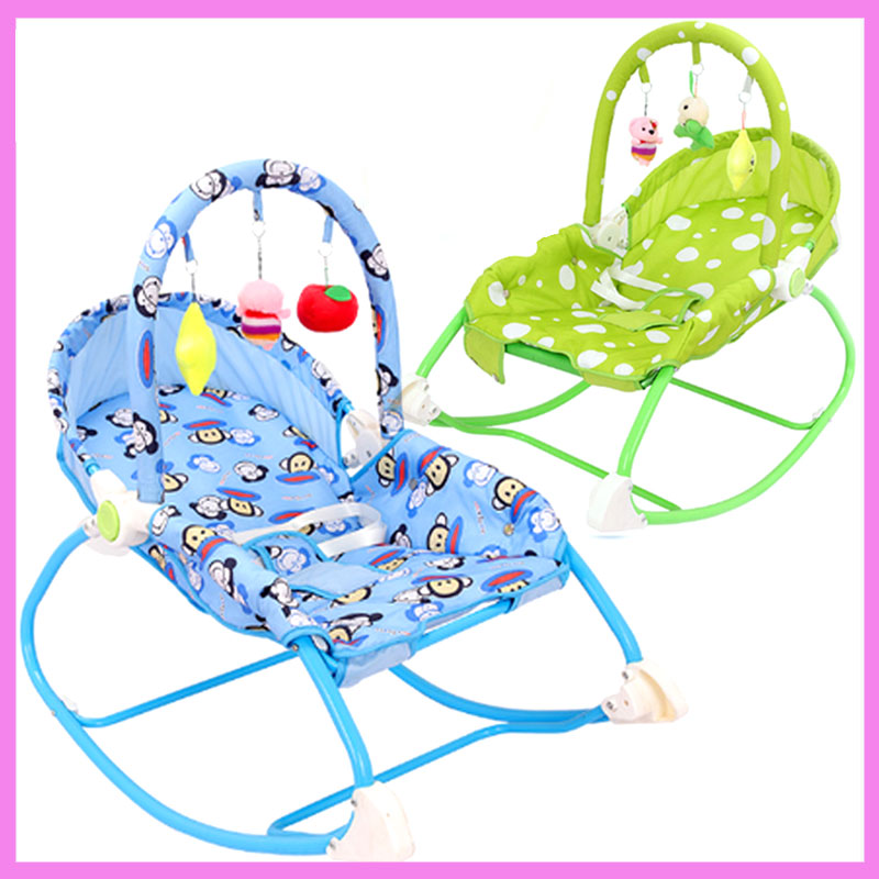 Music Shock Portable Lightweight Infant Baby Swing Chair Rocking Chair Cradle Lounge Recliner 0~36 M