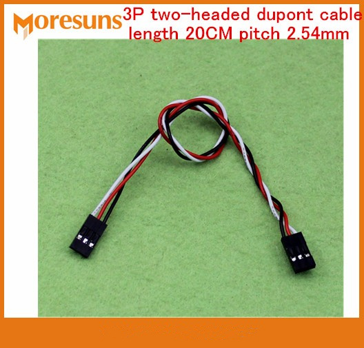 Fast Free Ship 100pcs/lot 3P Two-headed Dupont Cable Length 20CM Pitch 2.54mm Dupont Line Double-end Dupont Cable