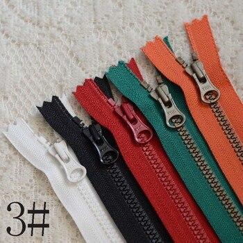 100pcs/lot Plastic Vintage YKK Zipper Resin Close End Red Black White Zip Fasteners 15 20cm 25cm Handmade Diy Sewing Accessories