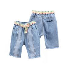 Nowy projekt chłopcy spodenki dżinsowe Soild dla dzieci krótkie spodnie chłopiec jasnoniebieskie dżinsy dzieci dżinsy dla chłopców 2019 spodnie dla dzieci na lato tanie tanio JEANS Elastyczny pas Drukuj Pasuje prawda na wymiar weź swój normalny rozmiar Unisex Luźne light Kids Tales 5-7-9-11-13