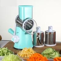 Vegetable Cutter Round Mandoline Slicer Grater For Carrot Potato Julienne Stainless Steel Blades Kitchen Accessories Gadgets