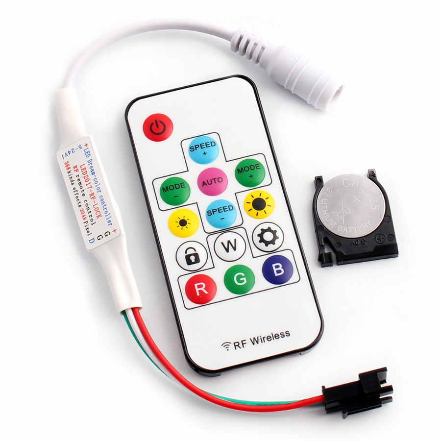 وحدة تحكم 12 فولت تيار مستمر RGB LED 14key صغيرة WS 2812 b 2811 rgbw rgbww جهاز تحكم عن بعد للضوء SP103E 2835 5050 قطاع ضوء ماجيك هوم