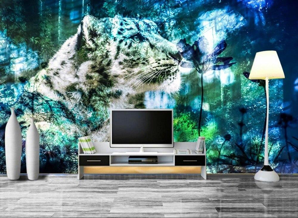 HD 3D Wall papers tiger Wallpaper Murals for TV Backdrop Wallpaper For Walls 3 d Living room bedroom papel de parede receiver