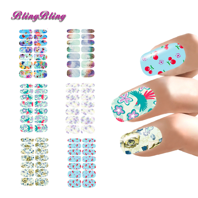 Fresh Design Nail Stickers Lot Flower Butterfly Style Nail Art ...