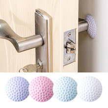 1 Pcs Home Wall Stickers Wall Mute Door Stick Golf Styling Rubber Fender Handle Door Lock Protective Pad Protection Baby Lock(China)