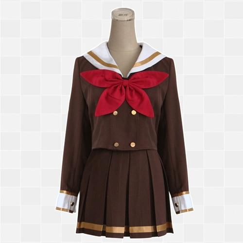 Hibike! Euphonium Oumae Kumiko uniforme tissu Cosplay uniforme scolaire Costume marron cosplay ensemble femme robe deux couleurs S M L XL
