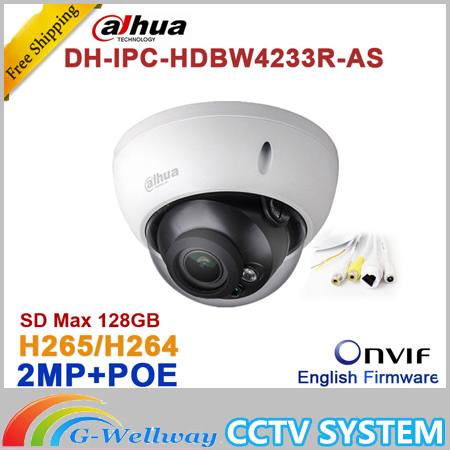 Wholesale Dahua DH-IPC-HDBW4233R-AS 2MP IR Mini Dome Network IP Camera IR POE Audio SD card Stellar H265/H264 IPC-HDBW4233R-AS видеокамера ip dahua dh ipc hdbw2220rp zs 2 7 12мм 1 2 8 1984x1225