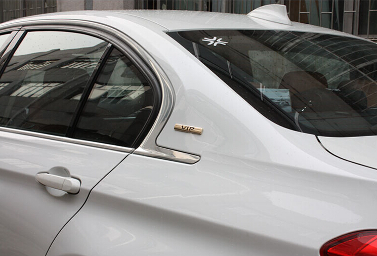 Omotavanje VIP 3D metalni luksuzni automobil auto bočna vrata C stup - Vanjska auto oprema - Foto 6