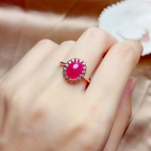 Image 2 - MeiBaPJ Natural Myanmar Ruby Gemstone 925 Pure Silver Earrings Ring Pendant Necklace 3 Suits Fine Wedding Jewelry Sets for Women