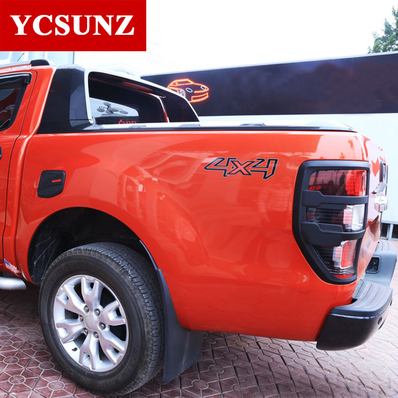 ABS Matte Black Tail Light Covers Trim For FORD RANGER 2012- 2019 T6 - Auto Replacement Parts - Photo 3