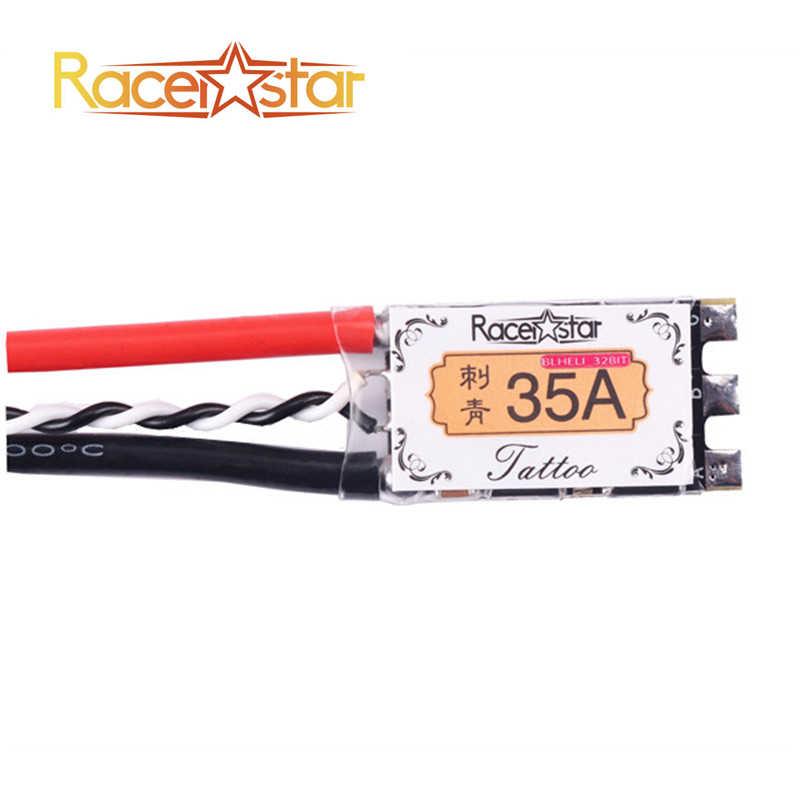 Brazo de alta calidad Racerstar TATTO 35A BLheli_32Bit RaceSpec Dshot1200 listo 2 S-5 S sin escobillas ESC para multicóptero RC RC Juguetes