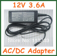 30pcs 12V 3 6A 43W AC DC Adapter Power Supply Charger For Tablet Microsoft Surface Pro