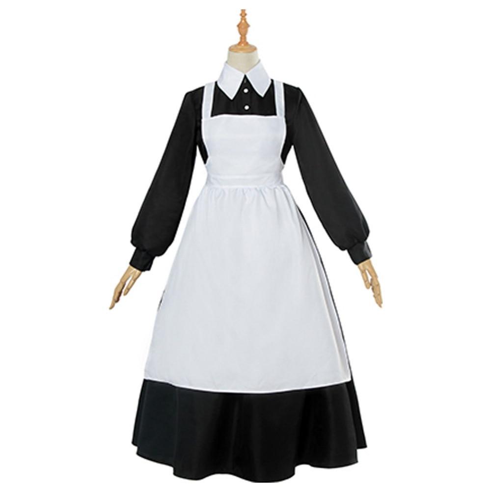 ACCA:13-ku Kansatsu-ka Jean Otus Owl Knot Cosplay Outfit Costume Uniform Suit