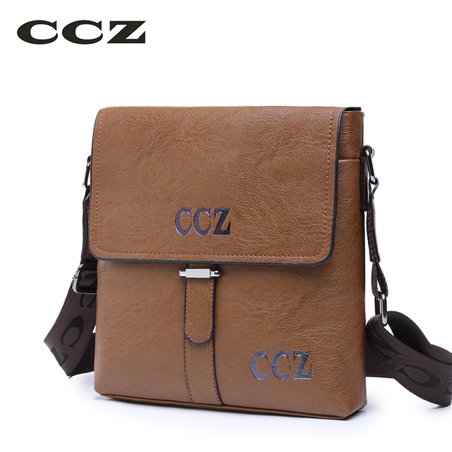 Ccz New Arrival Mens Crossbody Bags Casual Flap Bag For Men Solid Pattern Messenger Pu