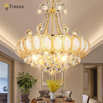 Luxury Crystal Chandeliers Led Lamp For Living room Bedroom Corridor Kitchen Modern Ceiling Chandelier Lighting lustre cristal modern led chandelier lighting transparent glass bubble ball chandeliers for living room lustre de cristal lustre para sala lamp