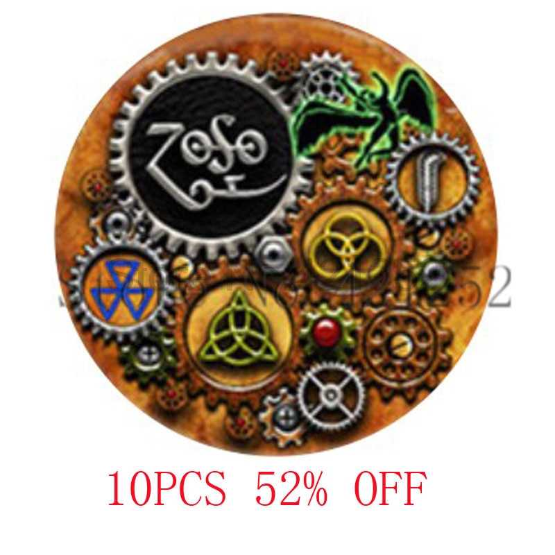 Led Zeppelin Steampunk Inspired Pendant Glass Photo cabochon Necklace keyring bookmark cufflink earring