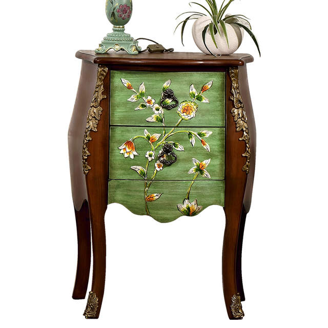 3 Vintage Bijzettafeltjes.Online Shop Europe And America Wood Antique End Table Console