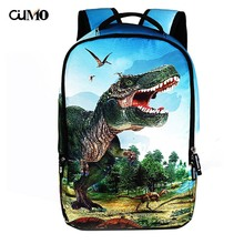 Ou Mo brand 3D printing Cartoon animal laptop man backpack Women computer bag anti theft school Bag teenagers Backpack