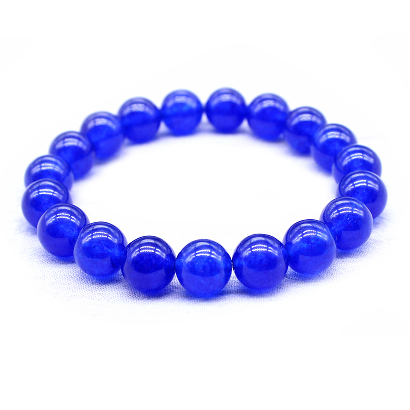 Natural Stone white blue Red Golden yellow Bead Bracelet Vintage Charm Round Chain Beads Bracelets Jewelry For Women Friend Gift 5