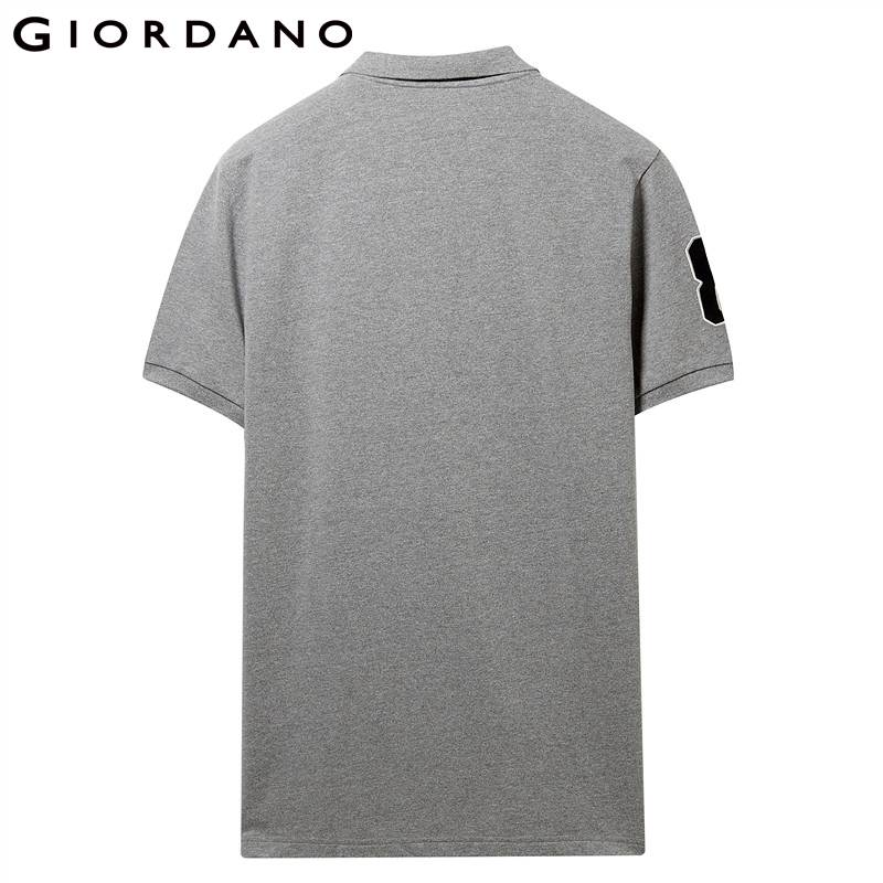Image 3 - Giordano Men Polo Men Shirt Short Sleeve Stretchy Pique Fabric Embroidered Patterns Polo Shirt Men Slim Fit Brand Camisa Polo-in Polo from Men's Clothing