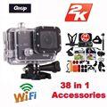 Frete Grátis! Gitup Git2 Novatek 96660 1080 P Wi-fi 2 K Câmera de Ação de Esportes Ao Ar Livre + 38 Pcs Acessórios Kit