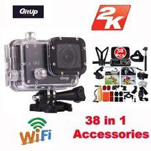 Gitup Git2 Pro Sports Action Camera Novatek 96660 1080P 16 million Wireless Outdoor Cameras WiFi 2K Cam+38Pcs Accessories Kit